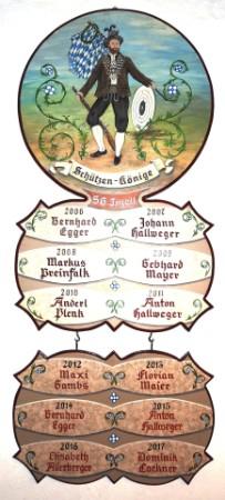 Schützenkönige 2006 - 2017
